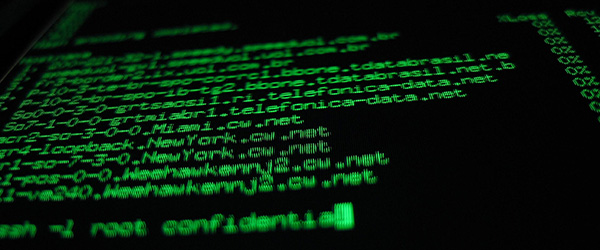Green computer code on a black background