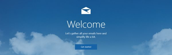 The Windows 10 Mail welcome screen